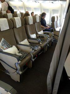 Sitzplatz an Board der A340-300