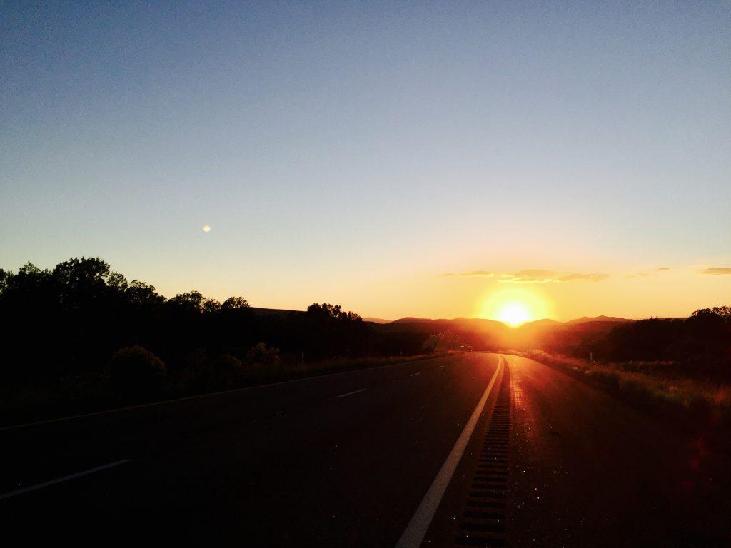 Sonnenuntergang in der Nähe von Las Vegas
